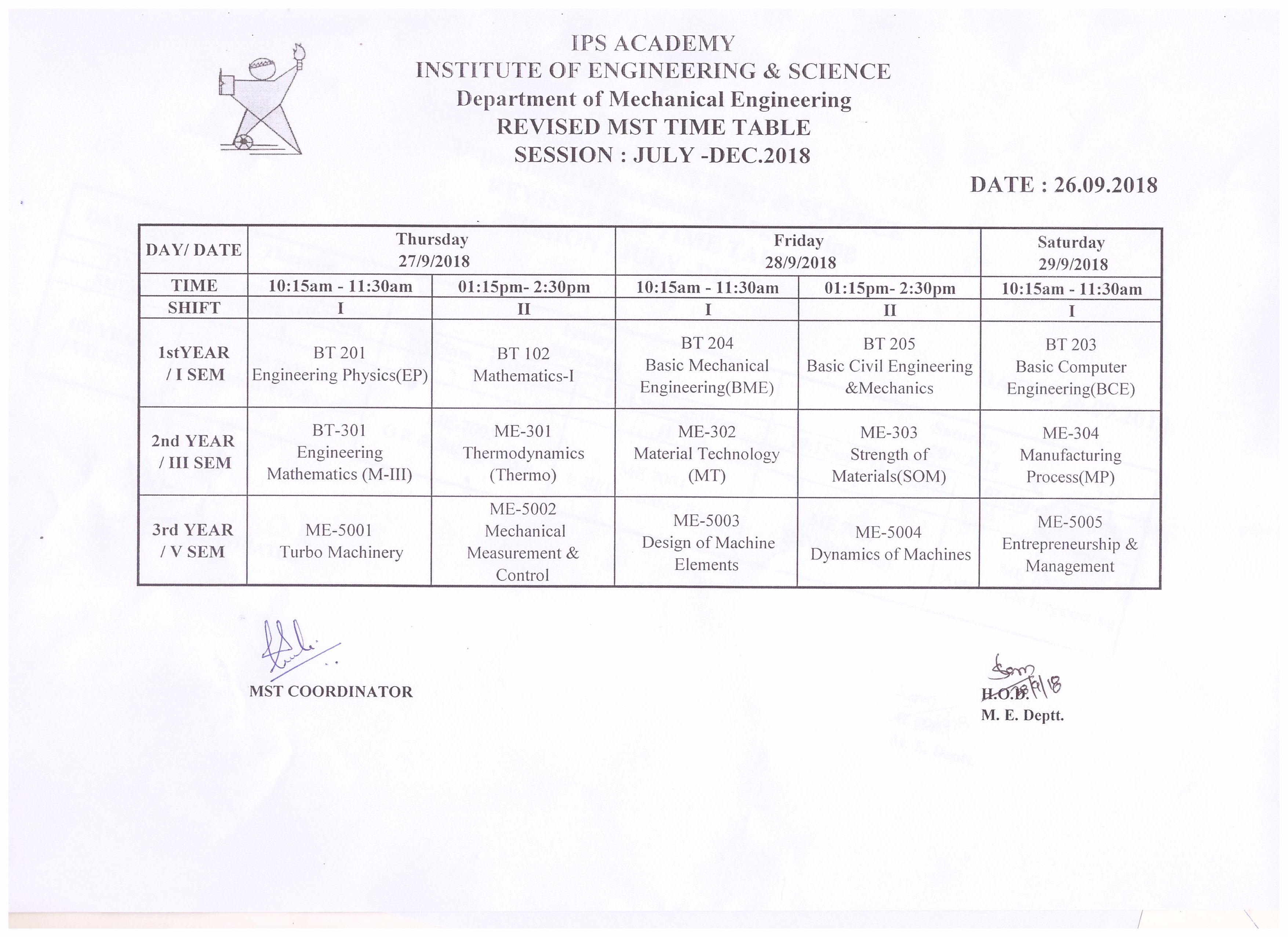 mst-1-time-table-iii-and-iil-year-july-dec-2018