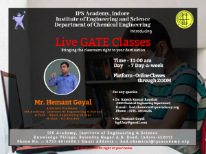 GATE classes for chemical engineering