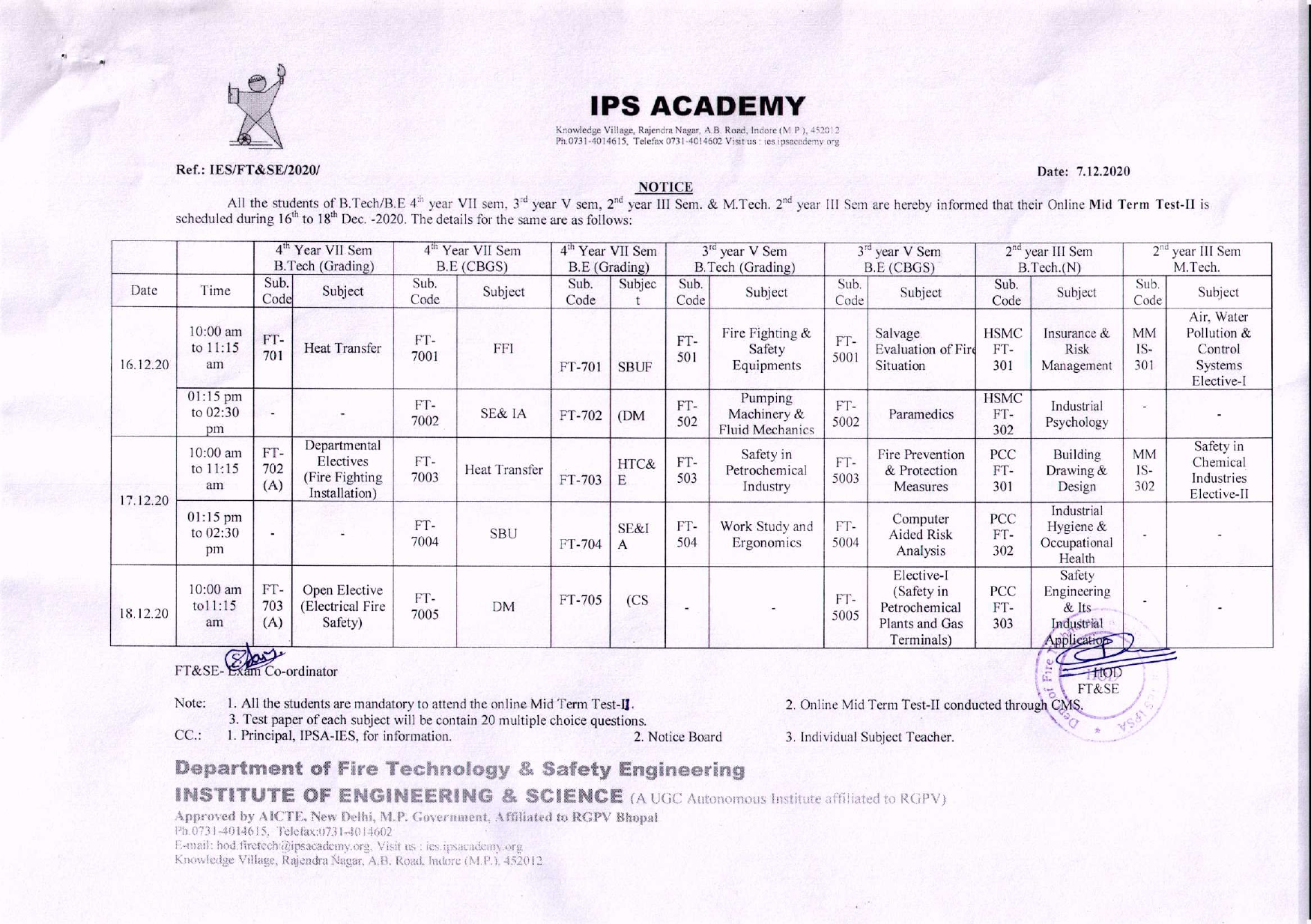 Mid Term Test-II Time Table Dec.2020_page-0001