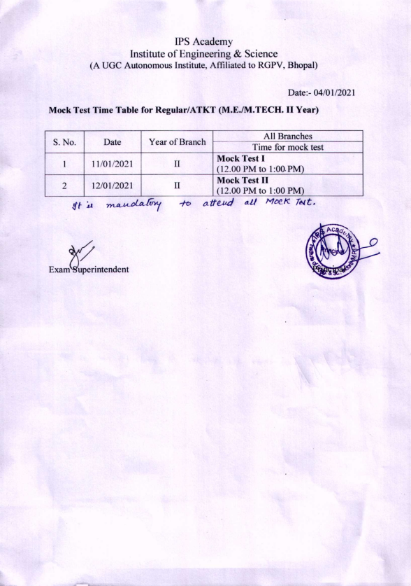 M.E. AND M.TECH_MOCK TEST TIME TABLE_001