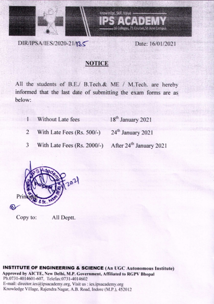 Notice regarding last date of submitting the exam forms 16 jan 2021_001