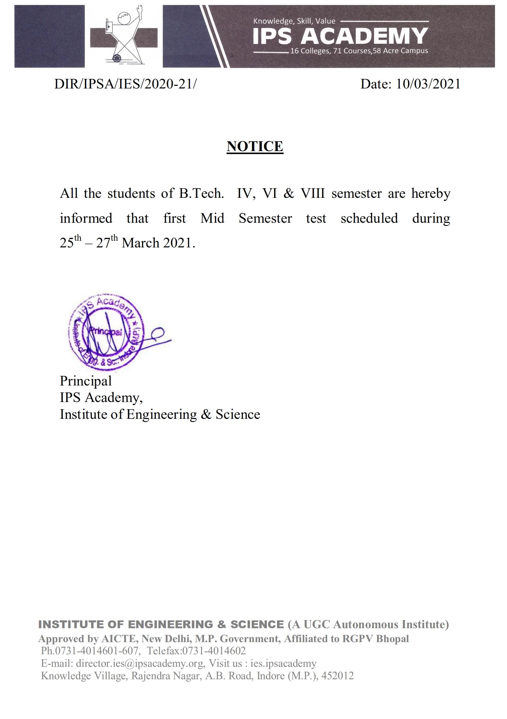 revised notice for student regarding first mid sem IV-VI-VII 10 march 2021_001