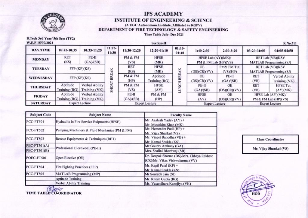 Revised 17.07.2021V-II Time Table July-Dec.21
