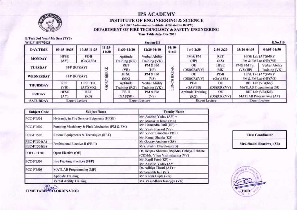 Revised 17.07.2021V-III Time Table July-Dec.21