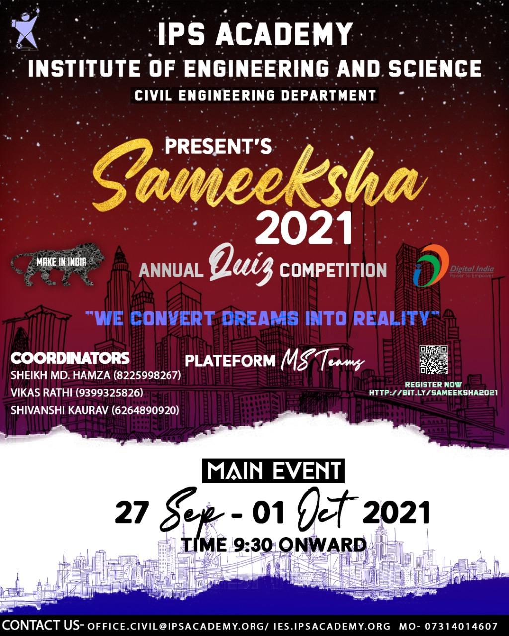 SAMEEKSHA 2021